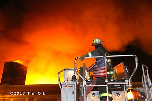 fire chief at massive fire
