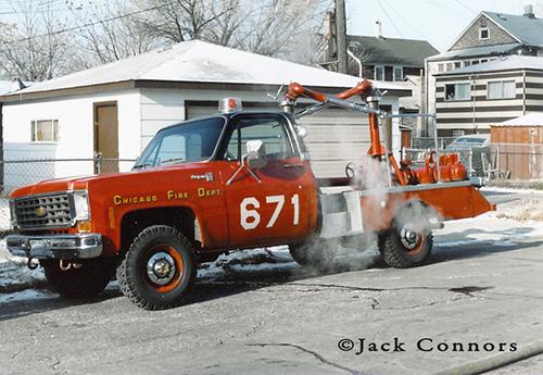Chicago FD Turret Wagon 671 6-7-1