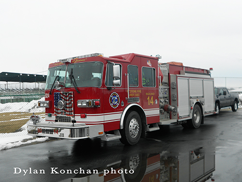 Peotone FIre District Sutphen engine