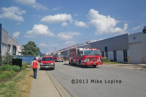 Schiller Park fire scene