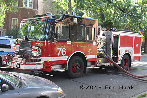 Chicago Fifre Department Engine 76