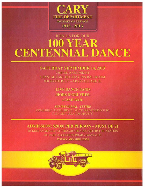 Cary Fire Protection DIstrict Centennial dance