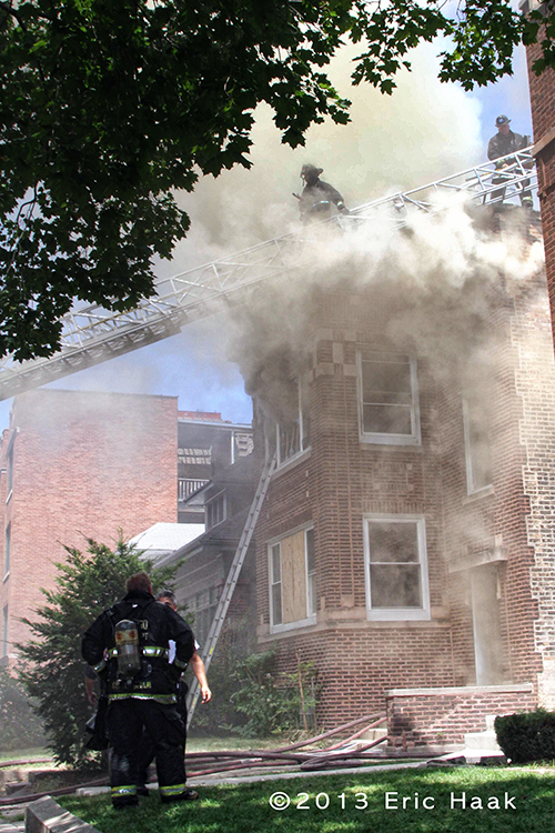 Apartment fire in Chicago