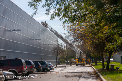 warehouse fire in Northbrook