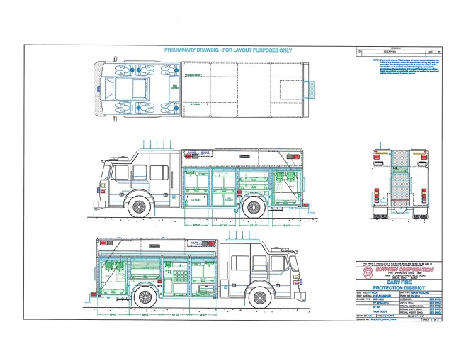 new squad drawings for Cary Fire Protection District