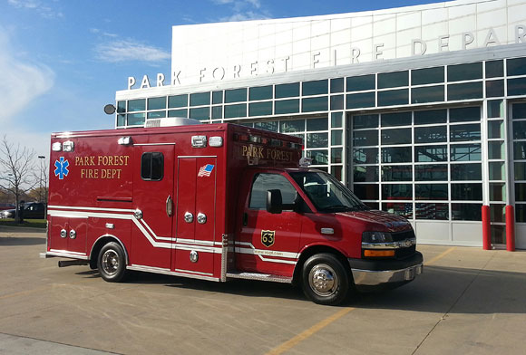 new ambulance for the Park Forest FD