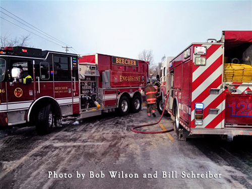 Peotone firefighters fight cold winter hour fire