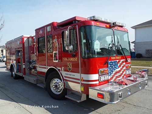 HME Alexis fire engine