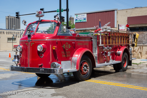 antique American laFrance fire engine
