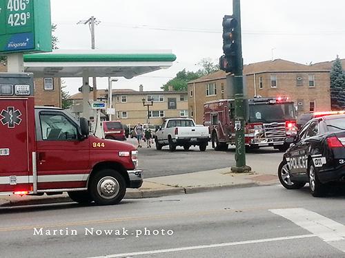 fire department trucks at scene