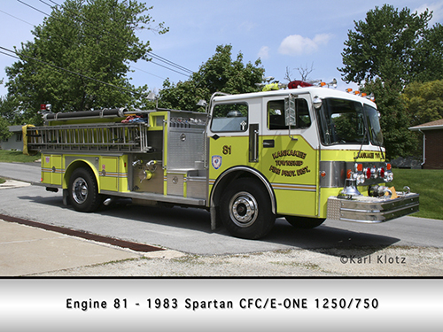 Kankakee Township FPD fire engine