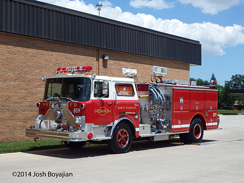 Pierce fire engine on a Mack CF chassis