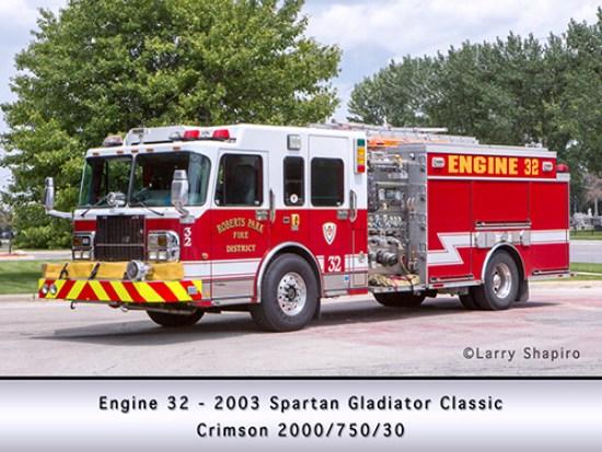 Crimson fire engine