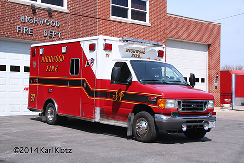 Highwood FD ambulance