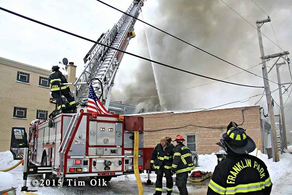 E-ONE quint at fire scene
