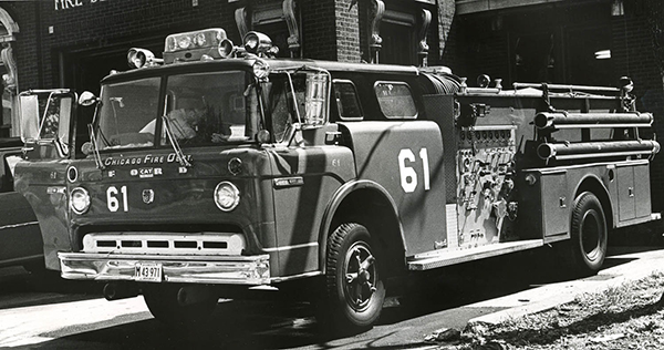 classic Ford Ward laFrance fire engine in Chicago