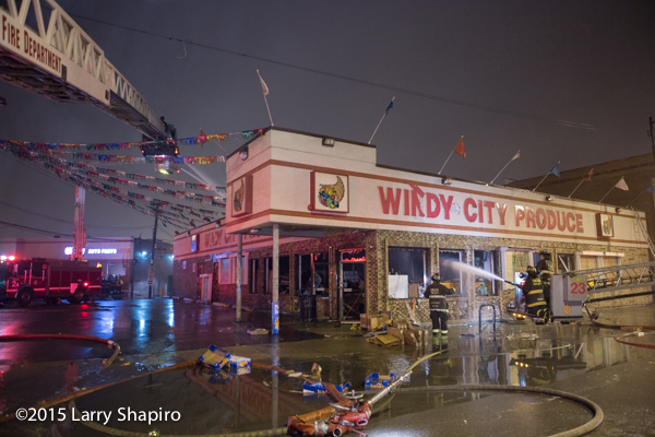 grocery store destroyed by fire