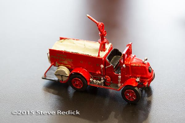 antique fire engine model