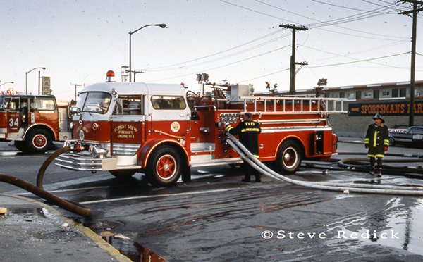 Forest View Fire Department at the Hawthorne Race Track grandstand fire of 1978