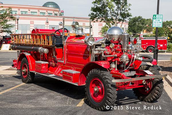 antique Ahrens Fox fire engine