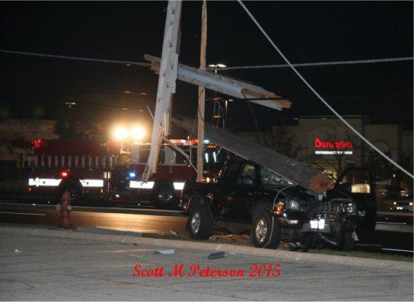 power pole on pickup truck