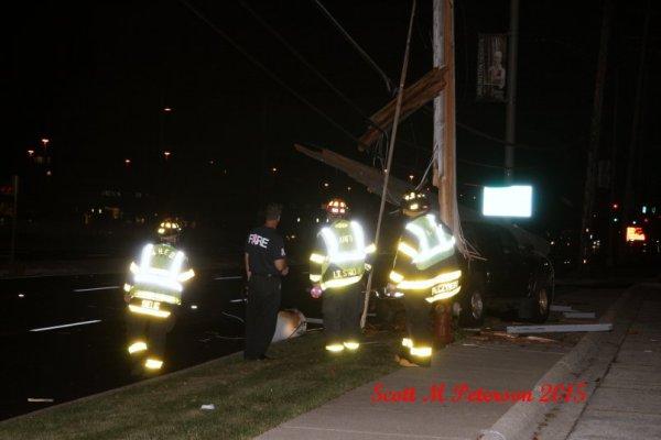 firemen at night crash site