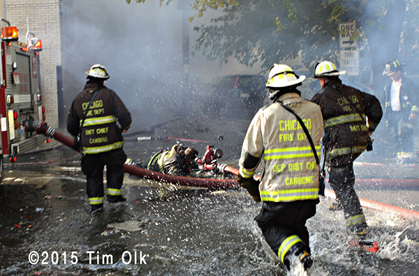 firemen injured at fire scene