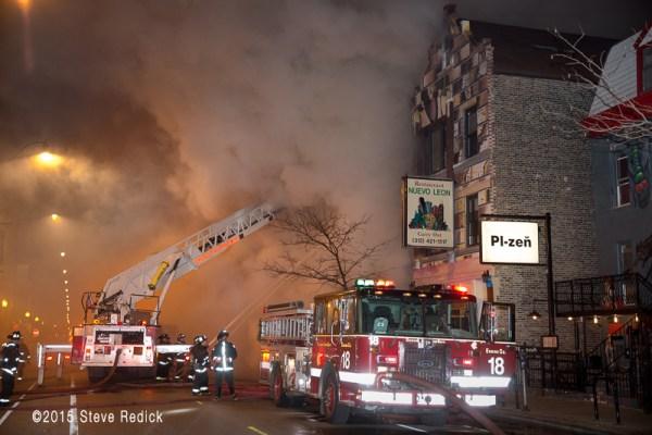 fire trucks at night fire scene