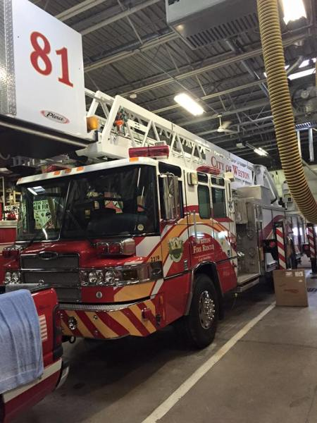 Weston Fire Department tower ladder