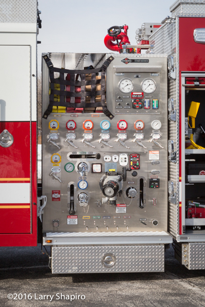 fire engine pump panel with rotary controls