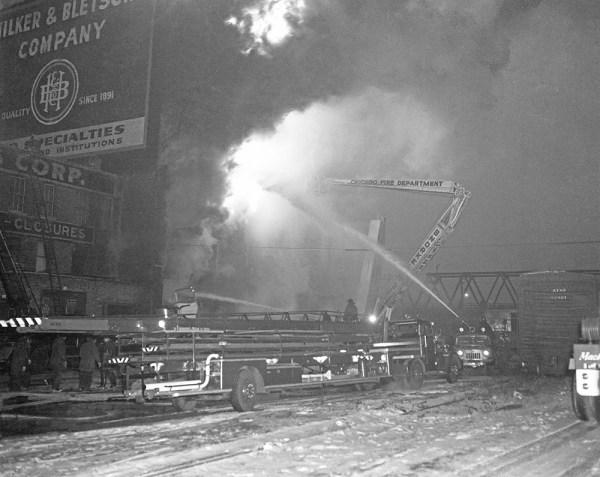 Hubbard Street fire in Chicago