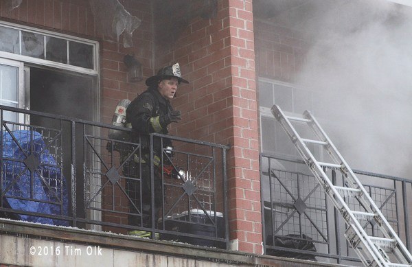 firefighter at fire scene