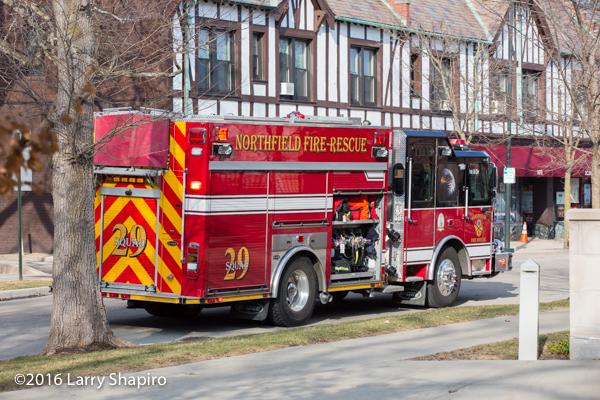 Northfield Fire Rescue E-ONE e-MAX fire engine