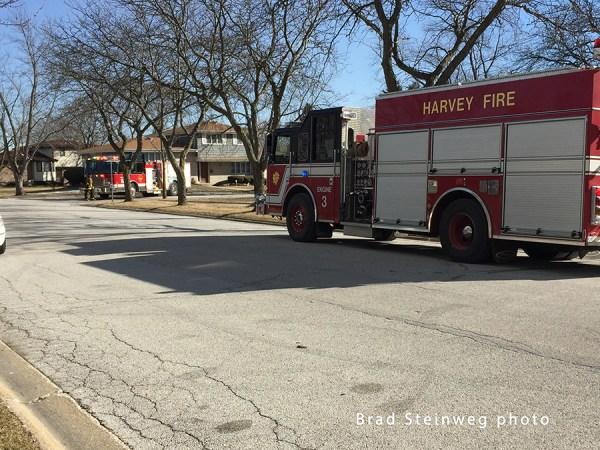 fire trucks on the street