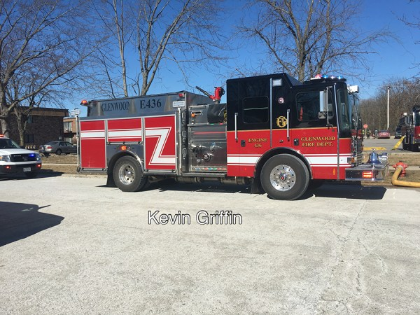 HME fire engine in Glenwood IL