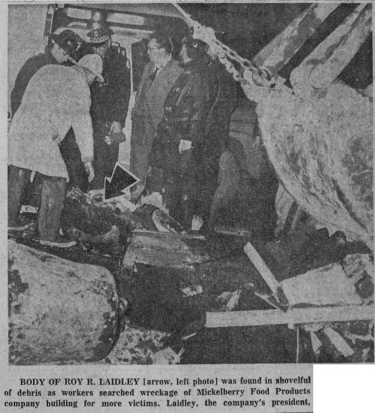 Mickelberry Food Products fire in Chicago February 7 1968