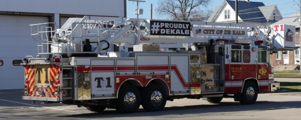 new fire truck for Dekalb FD in IL