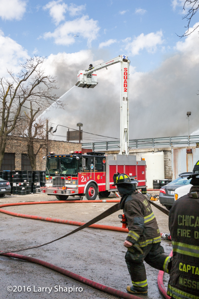 Chicago FD Squad 2A, the Snorkel at work