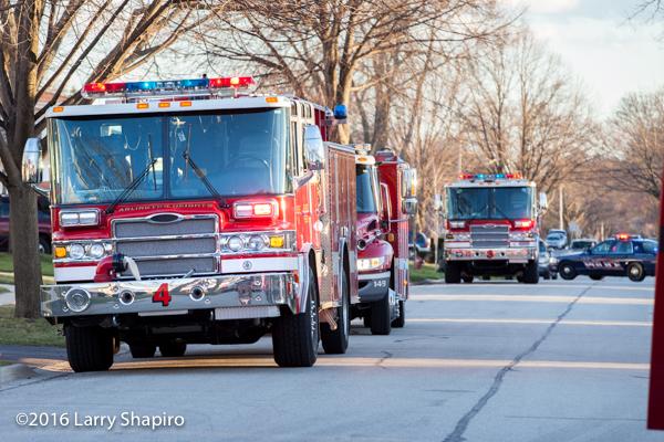 Pierce Quantum fire engines at fire scene