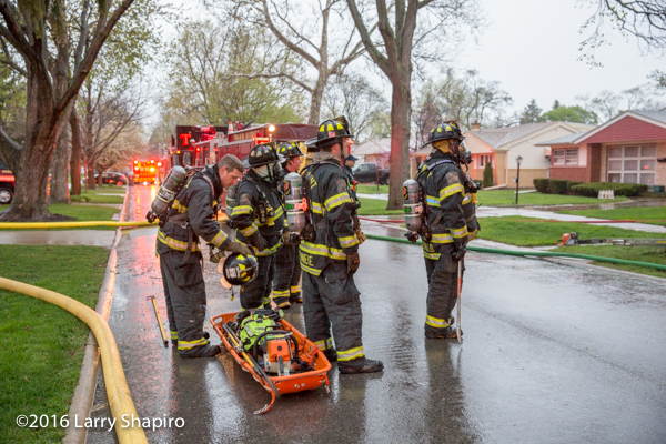 firefighters stand by as RIT