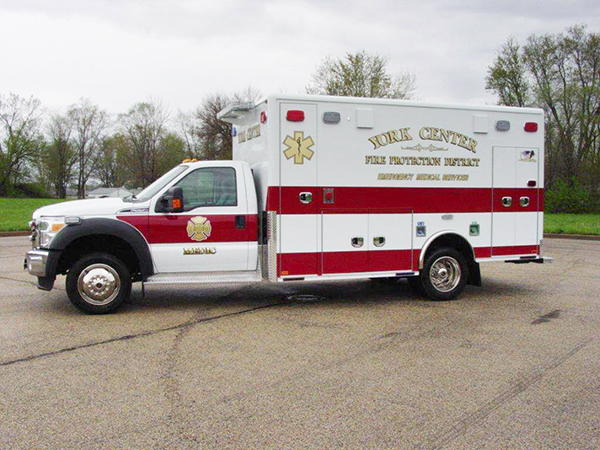 new ambulance for the York Center FPD