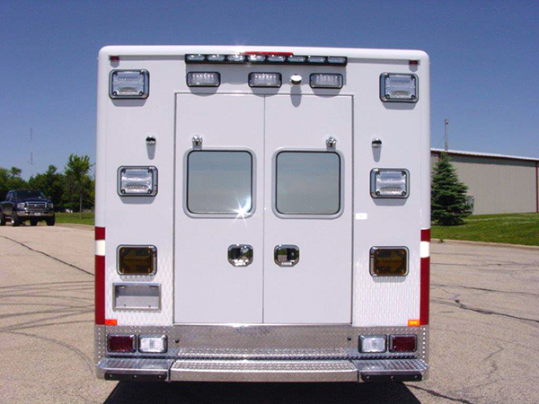 rear of new modular ambulance