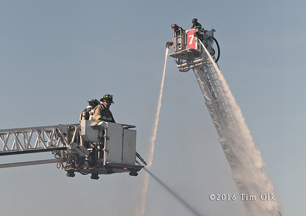 tower ladders work with master streams