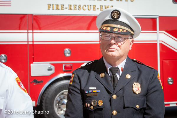 Prospect Heights Fire District Fire Chief Donald Gould Jr