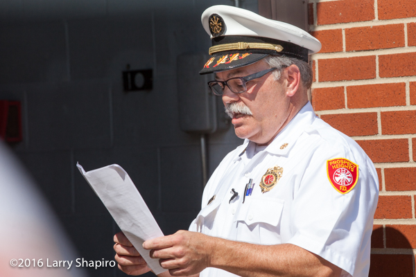 Prospect Heights Fire District Deputy Fire Chief Drew Smith