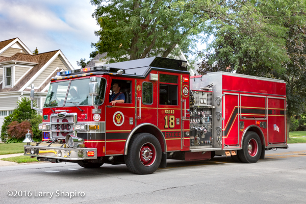 Skokie FD Squad 18 Pierce Dash