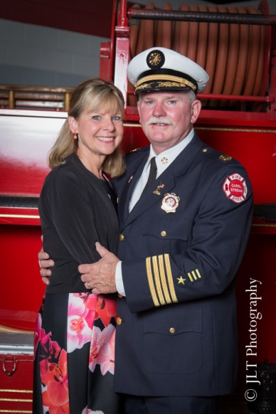 Carol Stream Fire Chief Robert Hoff and his wife
