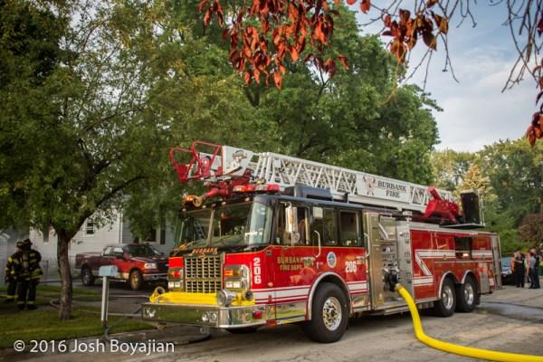 Burbank FD aerial ladder truck