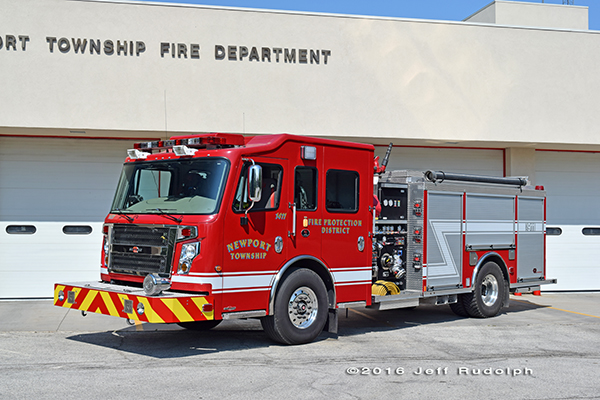 Rosenbauer Commander fire engine for Newport Township FPD
