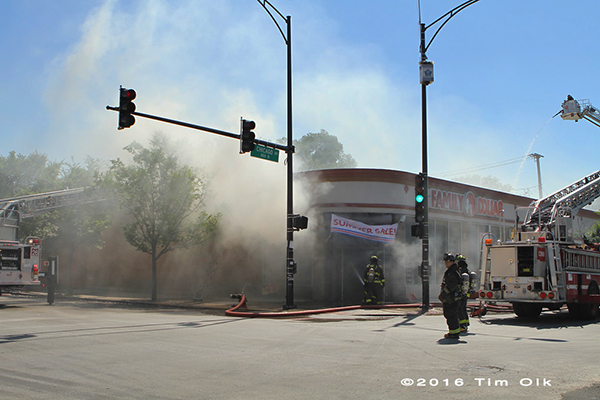 heavy smoke from Dollar Store fire